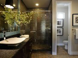 hgtv master bathroom designs bathroom with brown tile floor and