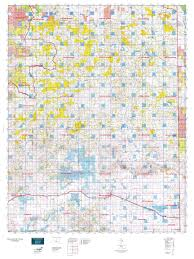 wy map wyoming elk gmu 126 east map mytopo