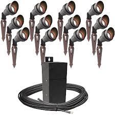 Landscape Lighting Photocell Pro Led Outdoor Landscape Lighting 12 Spot Light Kit Emcod 100watt