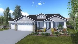 silverhawk a craftsman style rambler house plan walker home