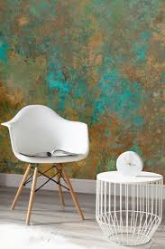 copper verdigris wallpaper mural turquoise wallpaper and unique