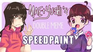 Double Meme - speedpaint double meme collab youtube