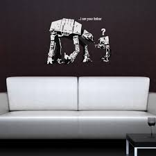 banksy wall sticker in i am your father design cuckooland i am your father star wars wall sticker