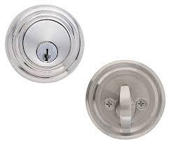 Low Profile Interior Door Knob Emtek Low Profile Brass Deadbolt Door Lock Shop Security Locks