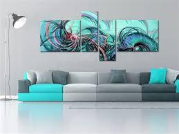 tableau d馗o chambre deco chambre nature 7 tableau abstrait 140x60cm green wave