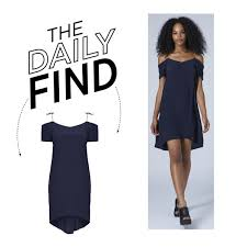 the daily find topshop silk off shoulder dress polyvore