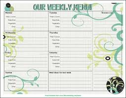 menu planners templates 20 free menu planner printables welcome to the family table