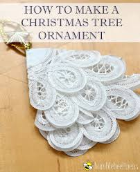 a tree ornament out of doilies