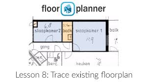 Floorplan Com Floorplanner Advanced 2 Tracing A Background Image Youtube