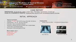 leptospirosis weil u0027s disease a case report o triantafyllou g