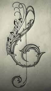 violin key design by enchantedbluerose ink it up