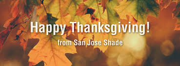 happy thanksgiving from san jose shade sharks happy