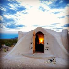 off grid adobe dome in the desert earth houses for rent in