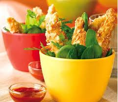 cuisiner aiguillette de poulet recette aiguillettes de poulet panées aux amandes en vidéo
