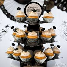 Table Decorations For Graduation Black Silver And Gold Graduation Sweets Table Idea Classy Grad