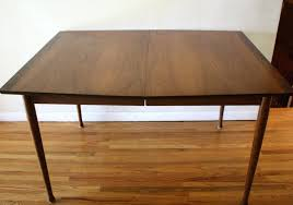 antique table with hidden leaf century dining room tables mid modern surfboard picked vintage table