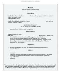 high resume for college format heading make a job resume how to write a job resume for student exles
