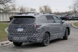 subaru truck 2018 spied 2018 subaru ascent three row crossover with production
