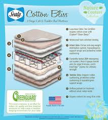 Sealy Soybean Everedge Crib Mattress Sealy Nature Couture Cotton Bliss 2 Stage Infant