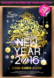 30 best new year and christmas free flyers psd templates for