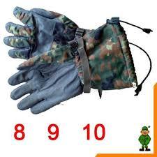 Esszimmerst Le Leder Gr Bw Flecktarn Winterhandschuhe Mit Fingern Handschuhe Kälte