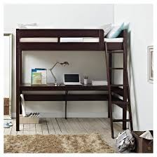 harlan loft bed with desk espresso twin dorel living target
