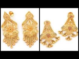 pics of gold earrings gold earrings designs with weight