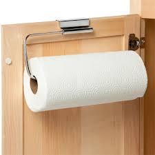 cabinet paper towel holder interdesign stainless steel over the cabinet paper towel holder