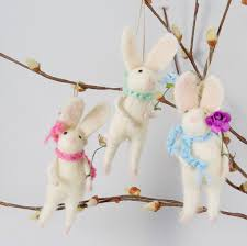 bunny decorations handmade felted easter bunny decoration by ella