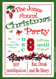 berry and cocktail christmas party invitations christmas