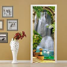 online get cheap waterfalls wall stickers home decoration