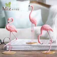 pink flamingo home decor miz home 1 piece resin pink flamingo home decor figure for girl ins
