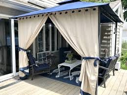 Outdoor Gazebo With Curtains Diy Gazebo Curtains With Tie Backs For Sun Glare Best