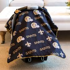 Carseat Canopy For Boy by New Orleans Saints Baby Gear Carseat Canopy Cover Nfl Licensed