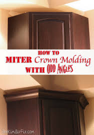 How To Install Kitchen Cabinet Crown Molding How To Miter Crown Molding At Any Angle The Kim Six Fix
