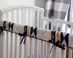 reversible crib teething rail padded cover made by myfrecklesshop