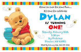 free printable winnie pooh invitations 1st birthday
