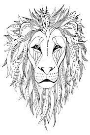 printable mandala lion drawing mediafoxstudio com