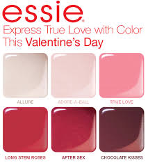 this valentine u0027s day essie help you to express true love with