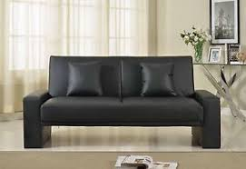 luxury leather sofa bed brand new 2 seater luxury supra faux leather sofa bed in black