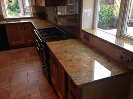 granite countertop marble kitchen worktop microwave smoked