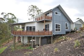 home design building blocks picturesque beautiful sloping pole home designs building