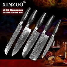 forged japanese kitchen knives pcs kitchen knives set japanese damascus steel knife tsu