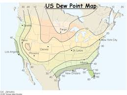 us dewpoint map united states yearly annual and monthly maximum dew point