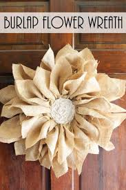 burlap flowers how to make a burlap flower wreath do more for less