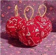 bandana western themed ornaments set of 3