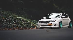 slammed subaru hatchback subaru impreza background wallpaper 1920x1080 17906