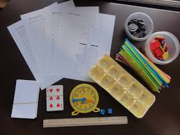 how to create your own free math manipulative kit