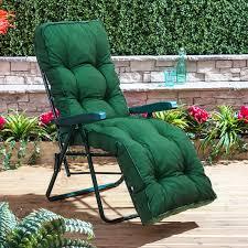 Garden Recliner Cushions Alfresia Garden Reclining Relaxer Green Adjustable Chair With