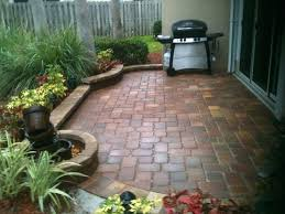 Patio Designs Using Pavers Landscaping With Pavers Ideas Backyard Patio With Artificial Turf